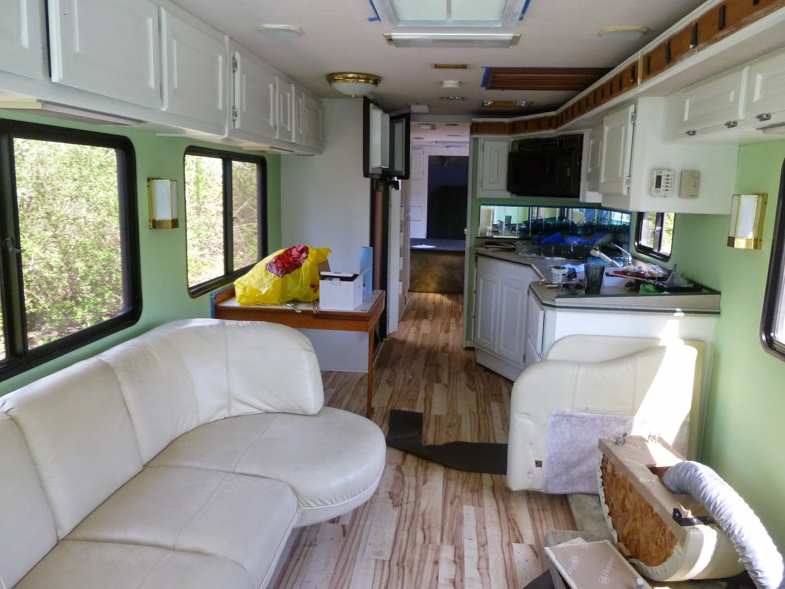 RV Renovation Painting RV Cabinets Updating Cabinet Hardware RV Renovation  How To Spray Paint The Interior Of Your RV In Pictures The Light Paint  Brightens ...
