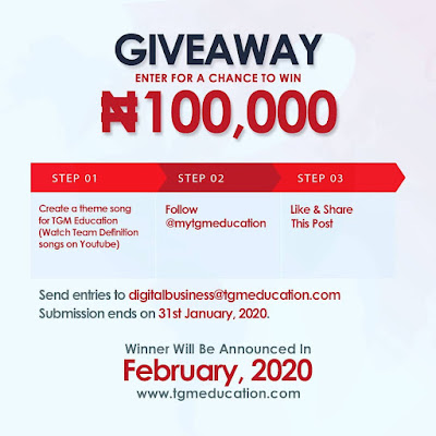TGM Education 100k Giveaway