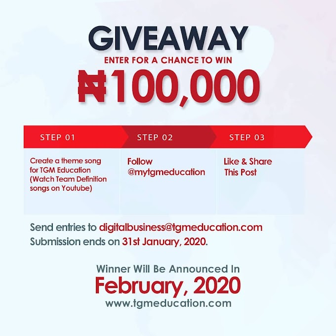 TGM Education 100k Giveaway.