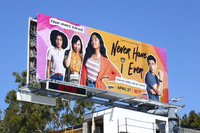 Never Have I Ever series premiere billboard