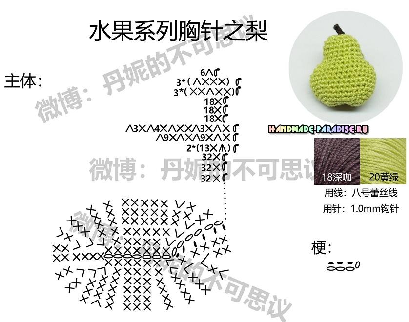 Схемы вязания фруктов (2)