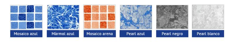 solución de reparación/rehabilitación con lámina armada y su gama de colores - Espool Piscinas, Guadalajara – info@espoolpiscinas.es