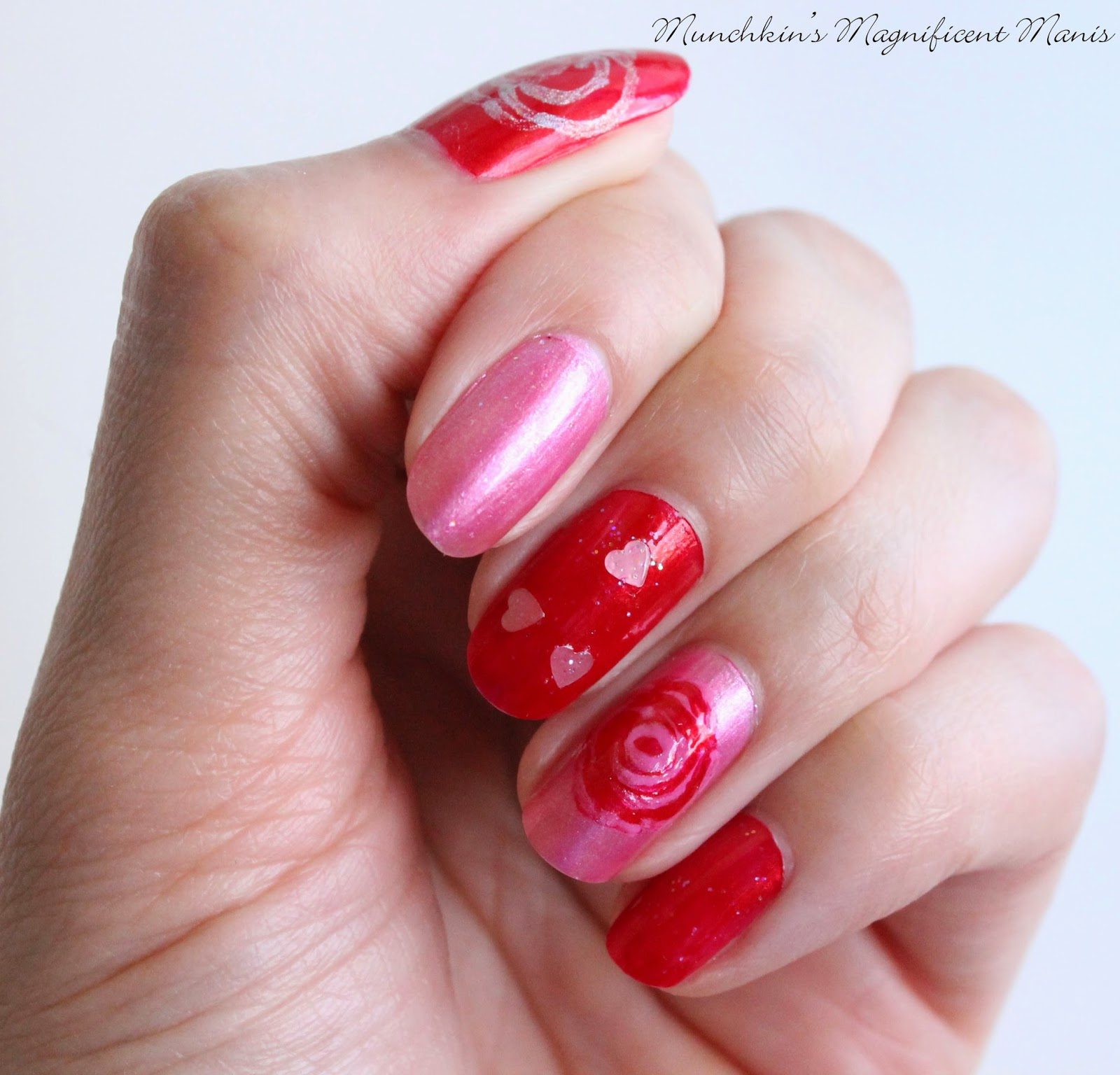Mother's day rose nail deesign
