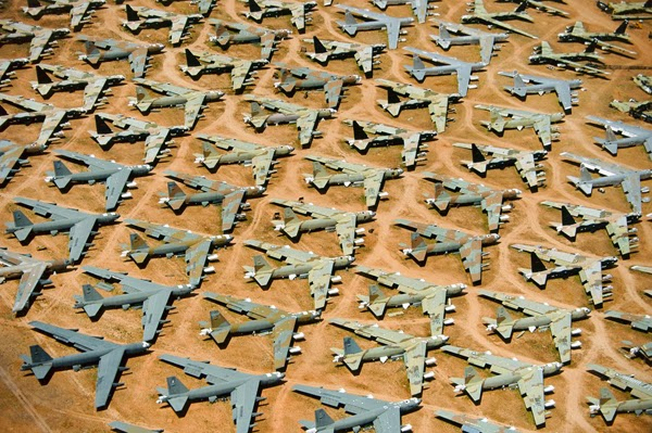5.) Planes and other military equipment sit to rot in this massive mechanical graveyard in Tucson, Arizona. - You Think You Know What The World Looks Like. Then You Look At It Like This And… WHOA. Amazing.