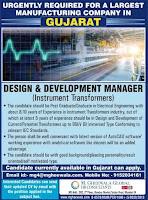 Design & Development Manager Career in Gujarat