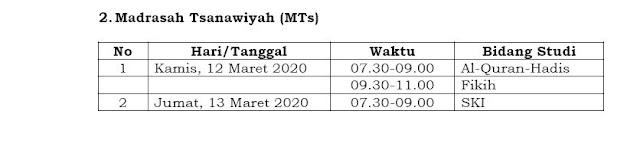 Terbaru Jadwal UAMBN-BK Tahun Pelajaran 2019-2020