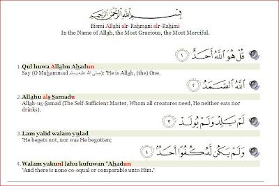 Image result for surah al kafirun dan al ikhlas