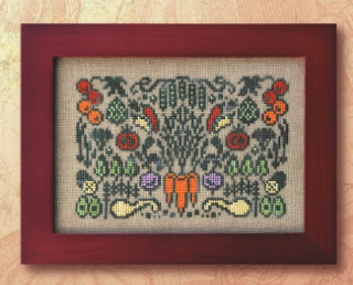 Arranging Vegetables cross stitch chart by Ink Circles