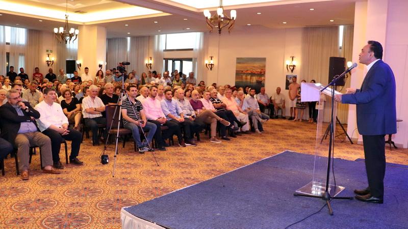 Παρουσία πλήθους κόσμου η κεντρική προεκλογική ομιλία του Σταύρου Κελέτση στην Αλεξανδρούπολη
