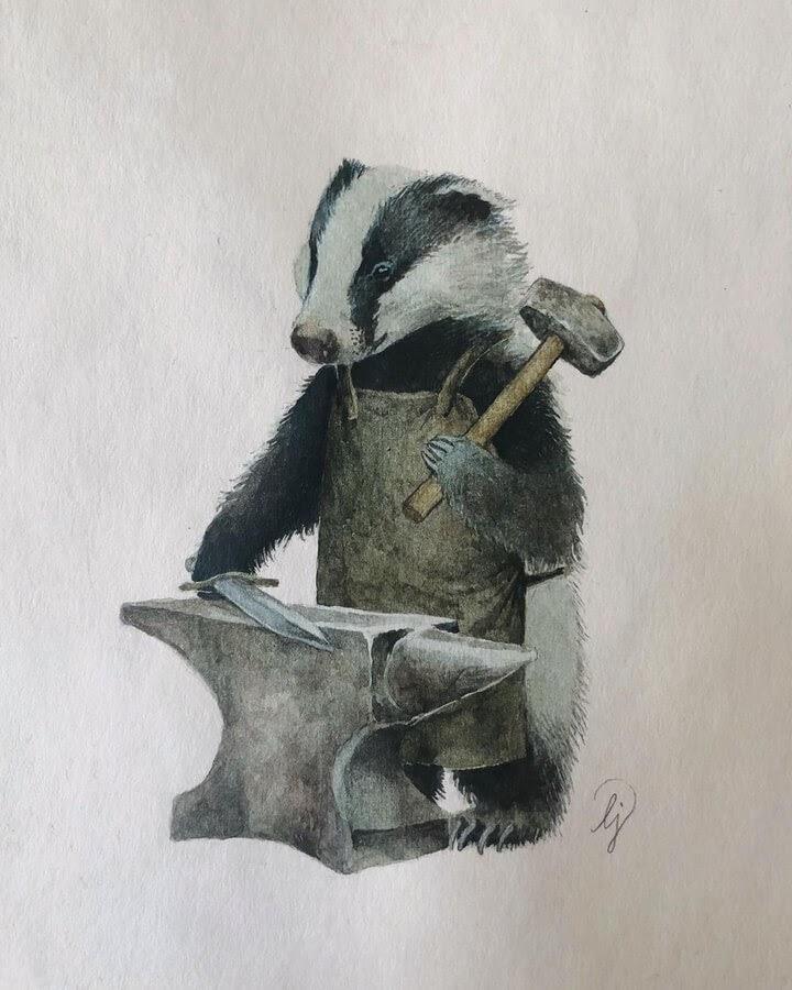 08-The-badger-blacksmith-Lily-Seika-Jones-www-designstack-co
