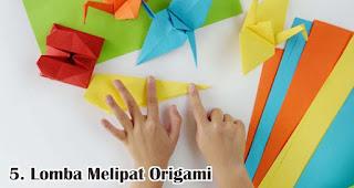 Lomba Melipat Origami merupakan salah satu ide lomba 17an seru dan edukatif untuk anak