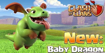 baby dragon, coc, clash of clans
