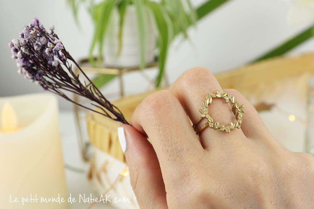 bague anneau floral