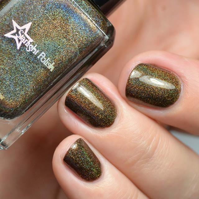 chocolate holographic nail polish