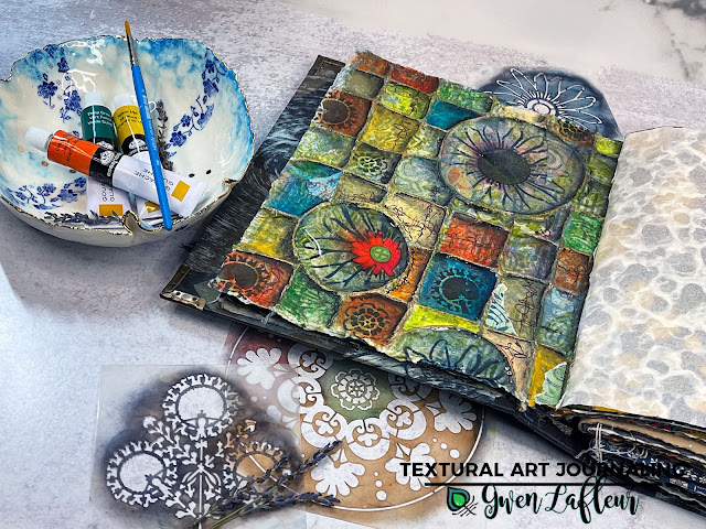 Textural Art Journaling Tutorial - Gwen Lafleur