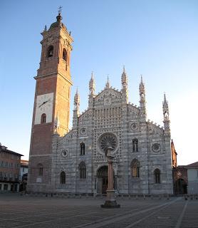 Monza's Basilica of San Giovanni Battista, which contains the jewel-bedecked Corona Ferrea