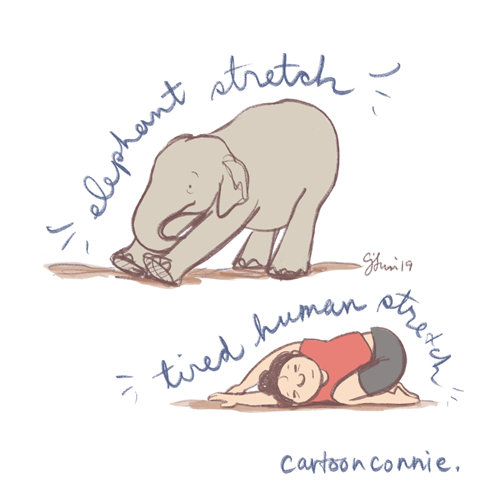 elephant, illustration, drawing, sketchbook, comics, connie sun, cartoonconnie