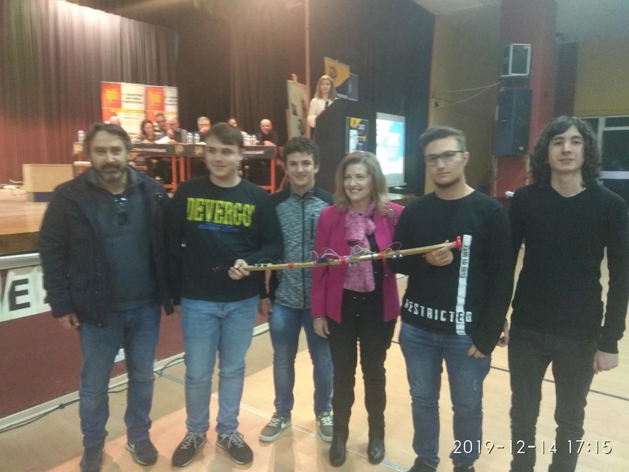 Συγχαρητήριο μήνυμα του δημάρχου Νέας Προποντίδας Μ. Καρρά στην ομάδα ρομποτικής ΓΕΛ Μουδανιών