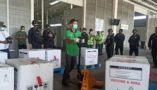 Tahap II,  34.840 Vial Vaksin COVID-19 Kembali Tiba di Sumut