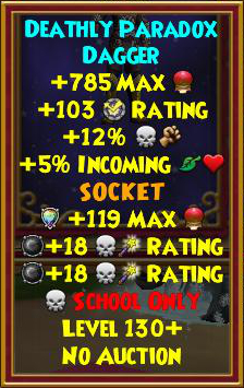 Wizard101 Storm Titan Drops - Level 130+ Paradox Best Gear Guide
