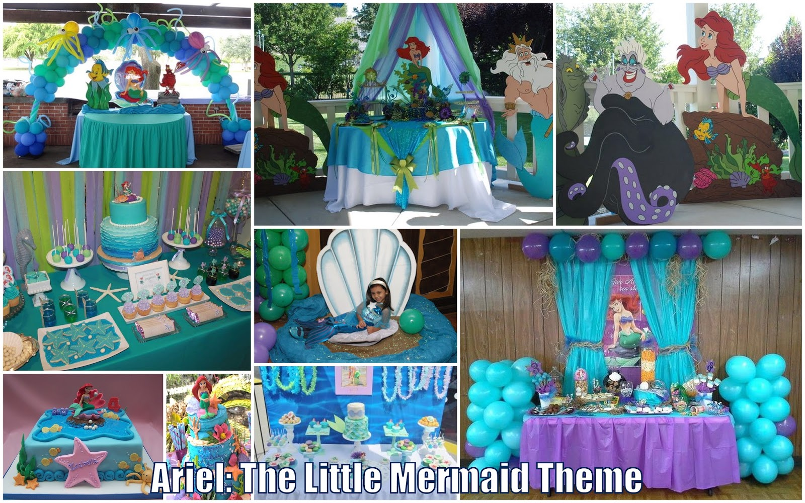 Ariel the little mermaid theme for reaux 39 s christening for Ariel birthday decoration ideas