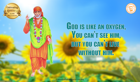 God Is Oxygen - Sai Baba Blessing Painting Image