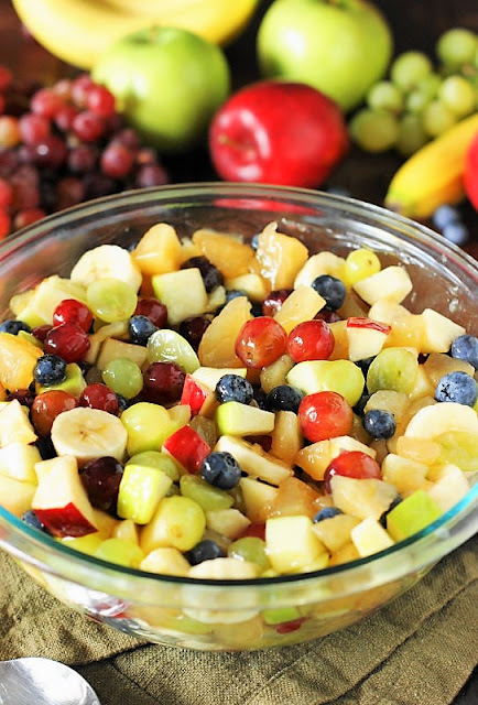 Bowl of Apple Pie Filling Fruit Salad Image
