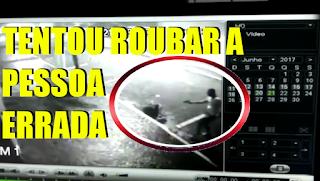 [VÍDEO] DEU RUIM PARA O LADRÃO: A VÍTIMA ERA POLICIAL