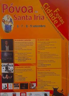 Programa Festas da Póvoa de Santa Iria 2018