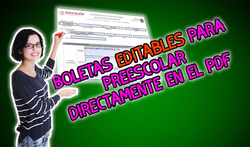 Boletas editables 2019-2020 │Preescolar