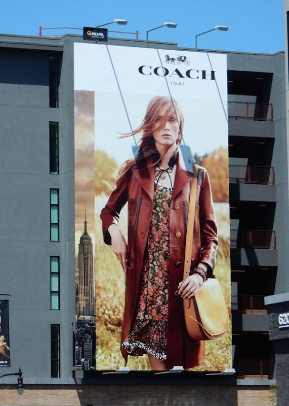 Coach SS16 fashion billboard