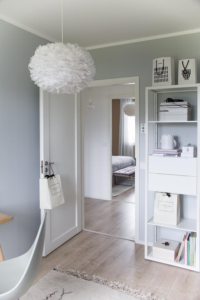 Eos Vita valaisin, kodin sisustus, Villa H, makuuhuone, skandinaavinen sisustus, työhuone