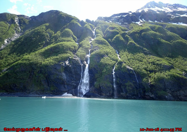 Alaska Glacier Waterfalls