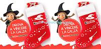 Logo Con la Giga Riffa e Maxi Riffa dell'Epifania con Kinder vinci centinaia di calze e buoni da 50€ e 100€
