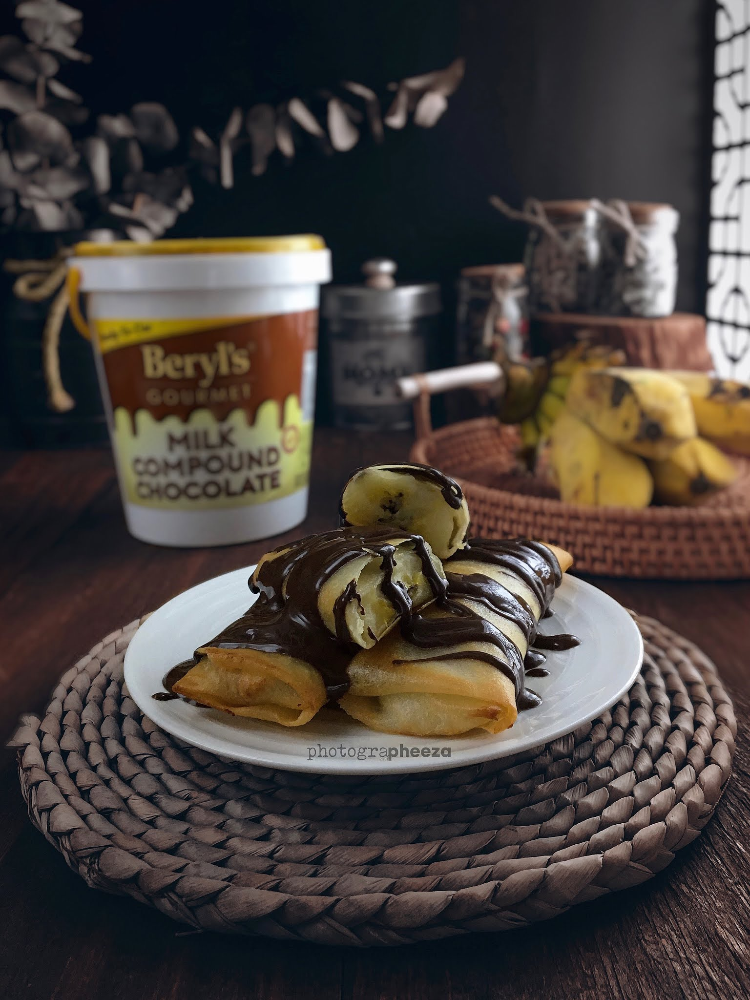 Resipi Popis (Banana Roll) Topping Chocolate