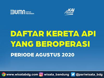 jadwal terbaru kereta api agustus  2020