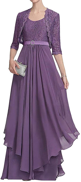 Cute Purple Mother of The Bride Dresses