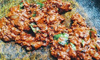 Cooking ghee roast masala