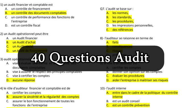 40 Questions Audit avec repenses
