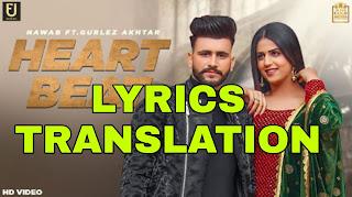 Heart Beat Lyrics in English   With Translation   – Nawab