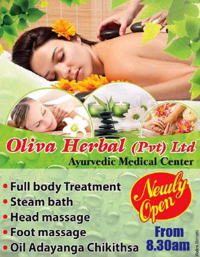 Oliva Herbal Spa in Ja-Ela