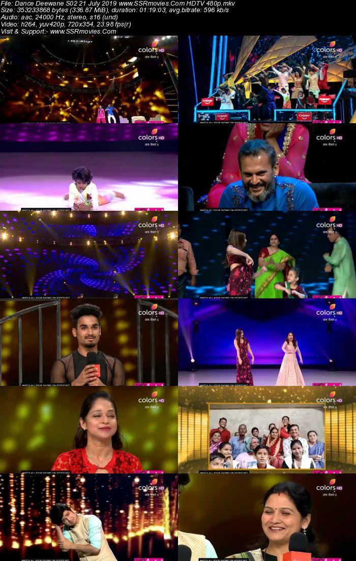 Dance Deewane S02 21 July 2019 HDTV 480p Full Show Download