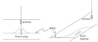 Mekanisme Water Coning dan Fingering