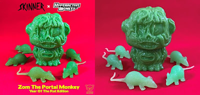 Woot Bear Exclusive ZOM the Portal Monkey Year of the Rat Edition Vinyl Figure by Hyperactive Monkey x Skinner