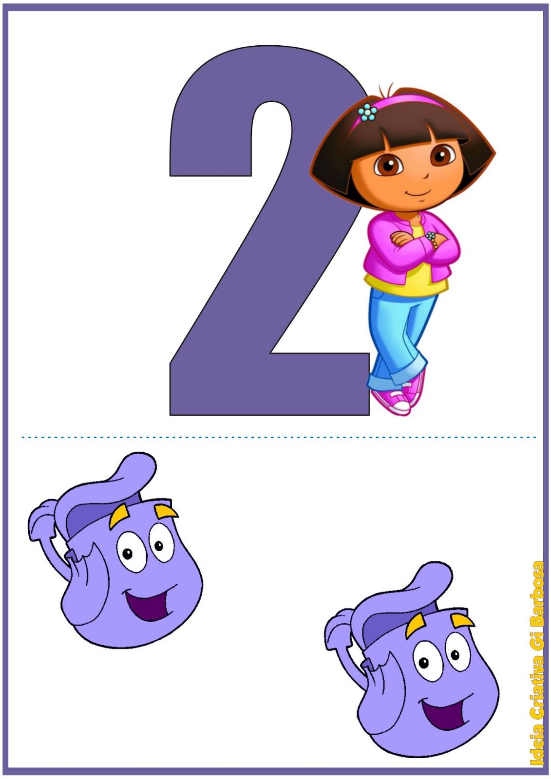 Numerais De Parede Numerais De Parede Dora Aventureira