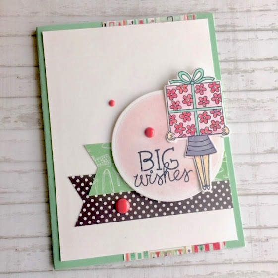 Big Wishes by Donna features Holding Happiness by Newton's Nook Designs; #newtonsnook, #inkypaws, #birthdaycards, #cardmaking