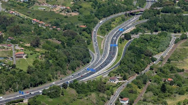 accesos al puente de Rontegi desde Erandio hacia Barakaldo