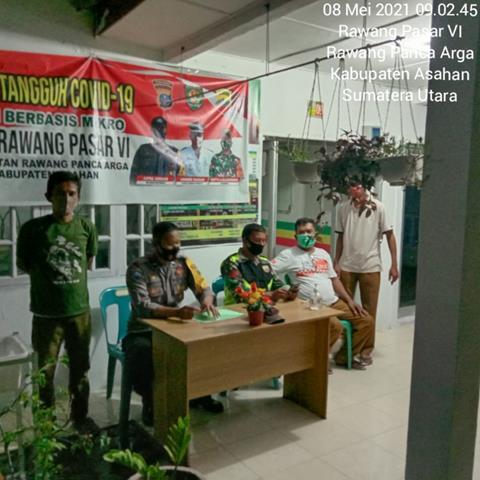 Pemantauan Posko PPKM Dilakukan Personel Jajaran Kodim 0208/Asahan Diwilayah Binaan