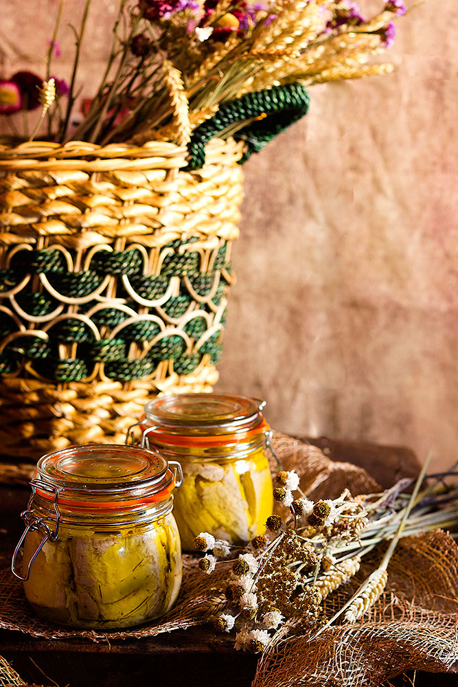 Conserva de bonito en aceite