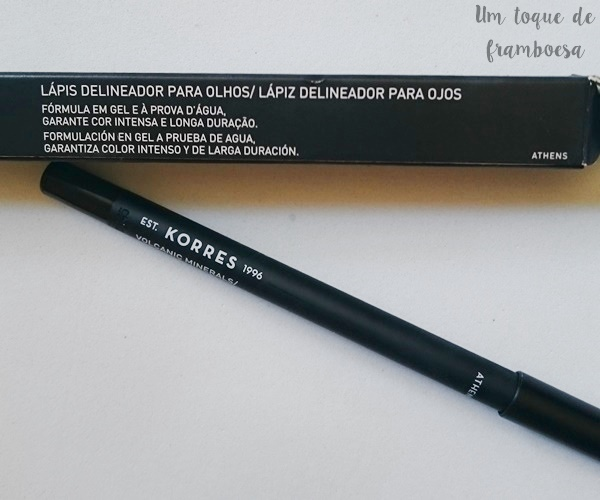 Resenha lápis delineador KORRES para olhos